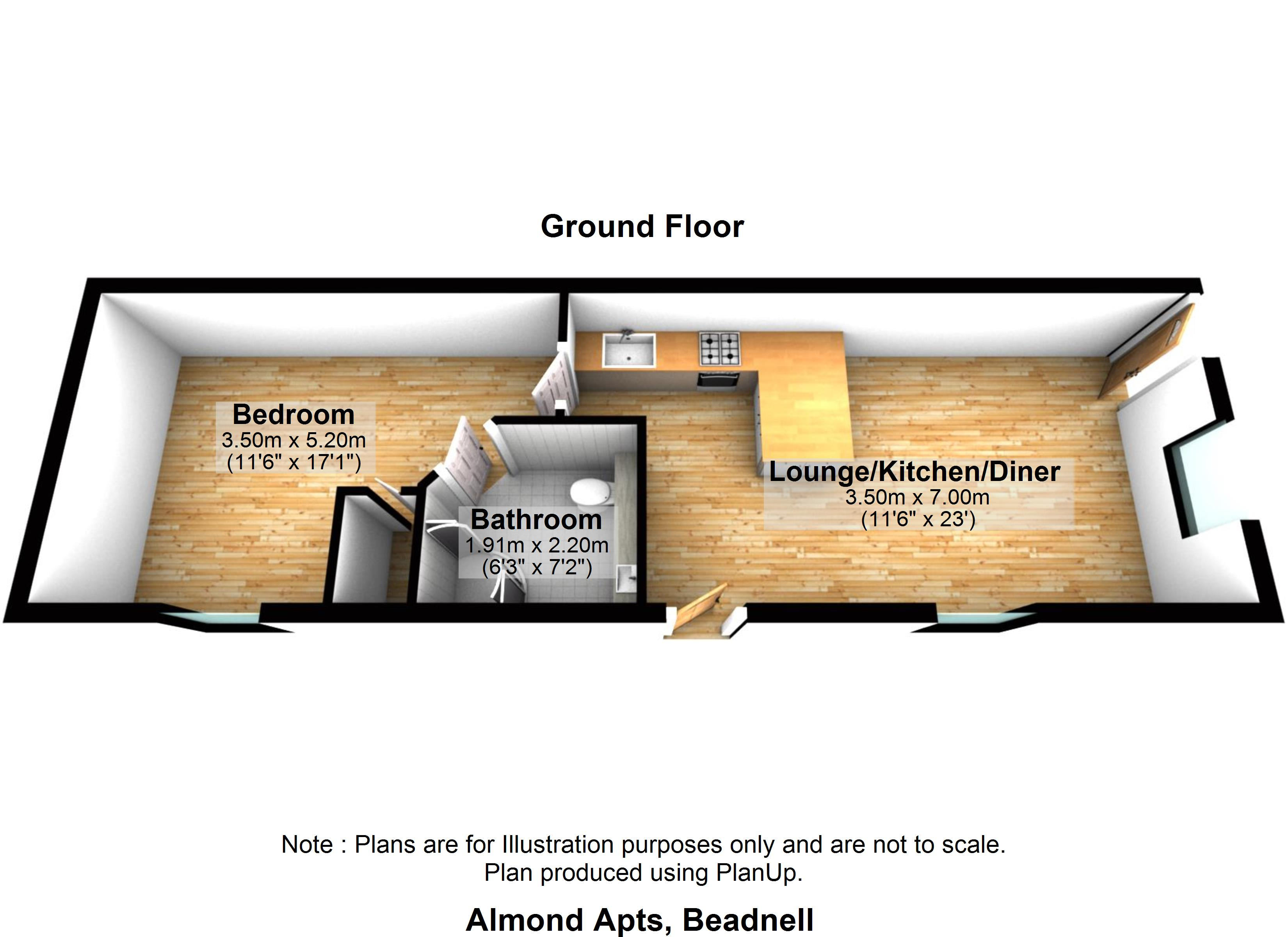 Almond Apartment Holiday Cottage floor plan